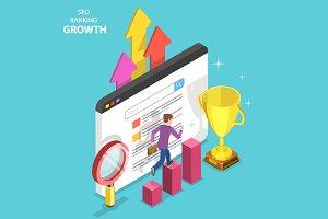 SEO ranking growth