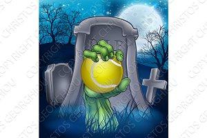 Tennis Zombie Halloween Graveyard