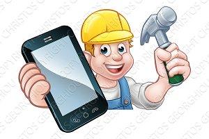 Carpenter Handyman Phone Concept