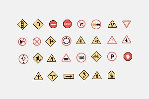 30 Traffic Sign Icons