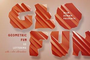 Geometric Fun - 3D Lettering