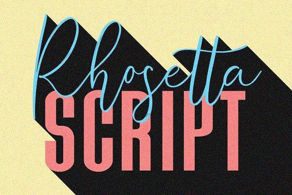 Script Fonts: Maulana Creative - Rhosetta Script
