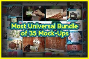 Most Universal Bundle of 35 Mock-Ups