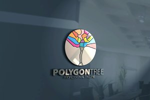 Polygon Tree Logo
