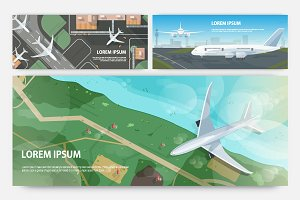 Airplane banners set