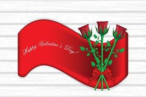Valentine`s day banner