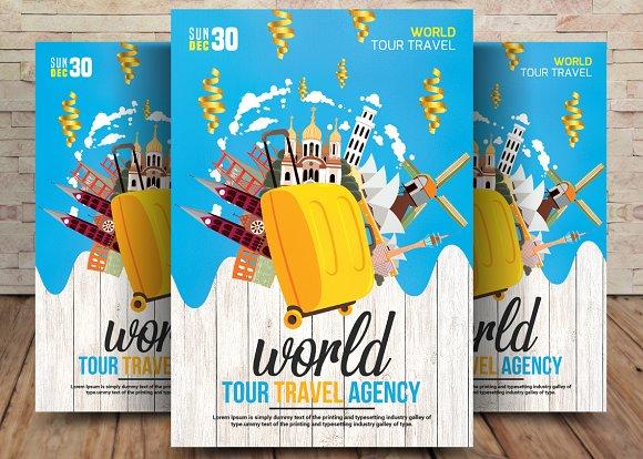 Thailand World Tour Travel Agency ~ Flyer Templates ~ Creative Market 45cf7bc2c0bd