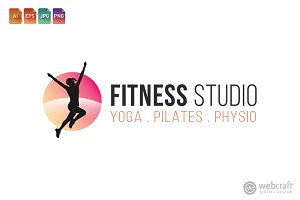 Fitness Gym Logo Template 3