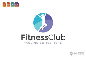 Fitness Gym Logo Template 4