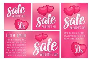 Two heart. Sale Valentine's Day