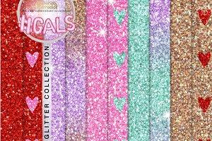 Valentine glitter textures