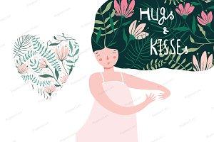 Hug and Kiss Dreaming of Love Girl