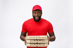 Delivery Concept - Portrait of