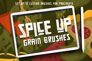 SPICE UP GRAIN BRUSHES for Procreate