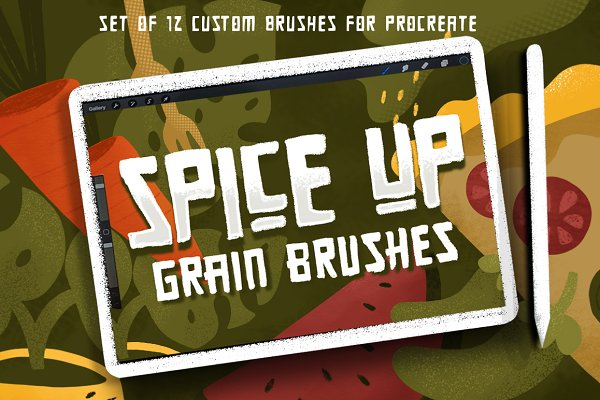 Photoshop Brushes - SPICE UP GRAIN BRUSHES for Procreate