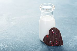 Chocolate cookie with sprinkles for