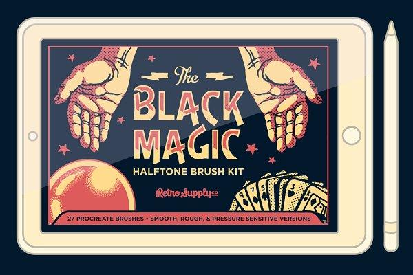 Black Magic Halftones for Procreate