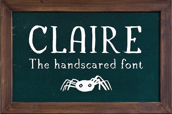 Claire - Serif font & illustrations