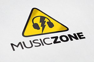 Music Zone Logo Template Design