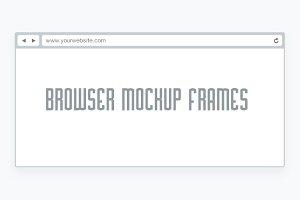 Minimal & Flat Browser Mockup Frames