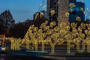 New year illumination in Tbilisi