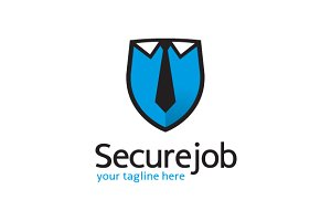 Secure Job Logo Template Design