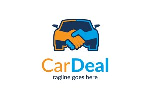 Car Deal Logo Template Design