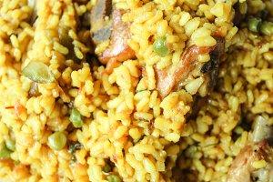 Paella Food Detail Surface