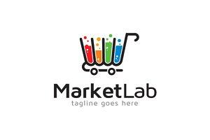 Market Lab Logo Template Design