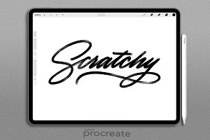 Procreate Brush : Scratchy Monoline