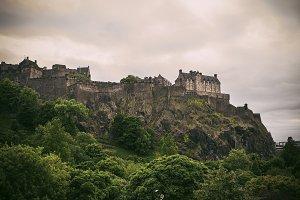 Edinburgh castle view, Scotland