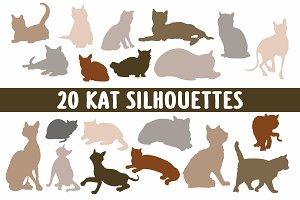 20 Cat silhouettes