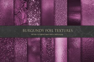 Burgundy Foil and Glitter Textures