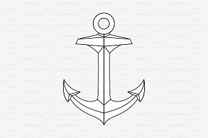 ♡ vector outline Anchor