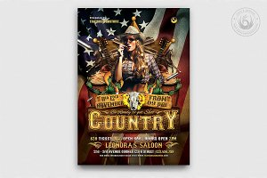 Country Live Flyer Template V1