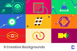 9 Colorful Infographic Backgrounds