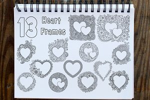 Set of Hearts frames