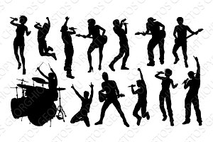 Silhouette Rock or Pop Band