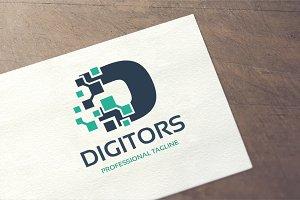Letter D - Digitor Logo