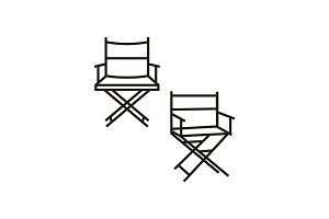 Simple Film Moviei Director chair