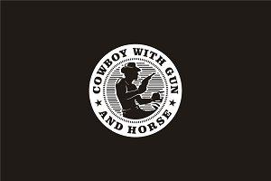 Retro Western Cowboy Emblem logo