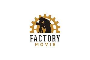 Gear & Camera Movie Production Logo
