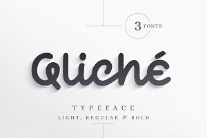 Qliché Typeface