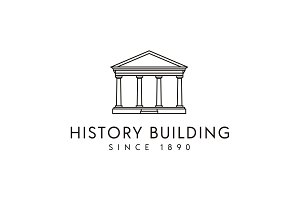 Government Historical Building Logo