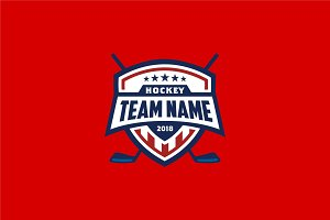 American Hockey Badge Emblem Logo