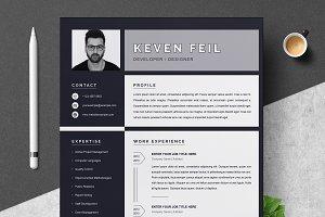 Resume / CV Template | Black & White