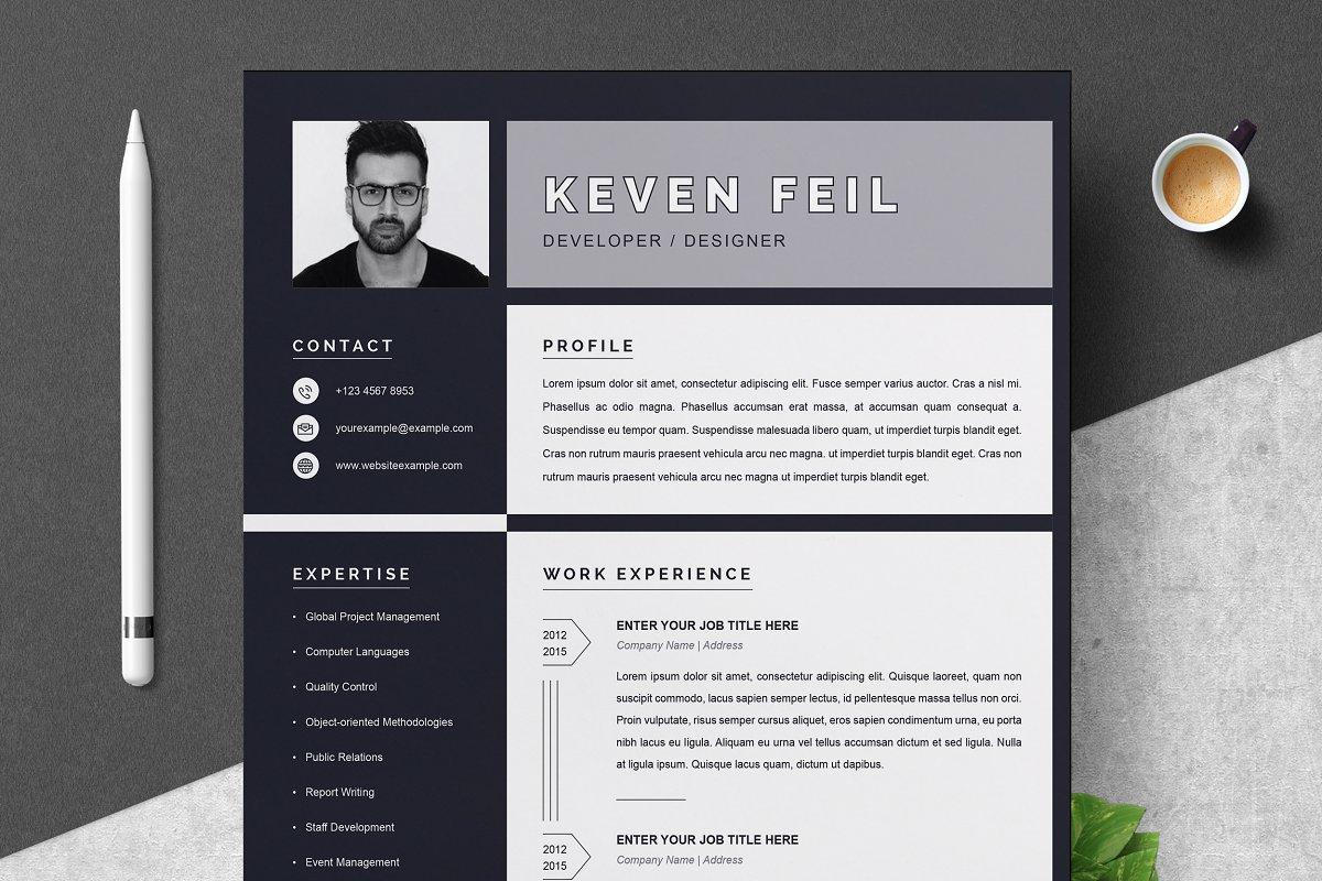 Resume / CV Template   Black & White ~ Resume Templates