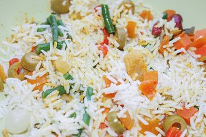 Curry rice with vegetables