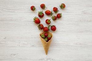 Waffle sweet ice cream cone
