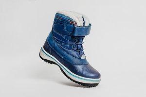 Blue children's shoe